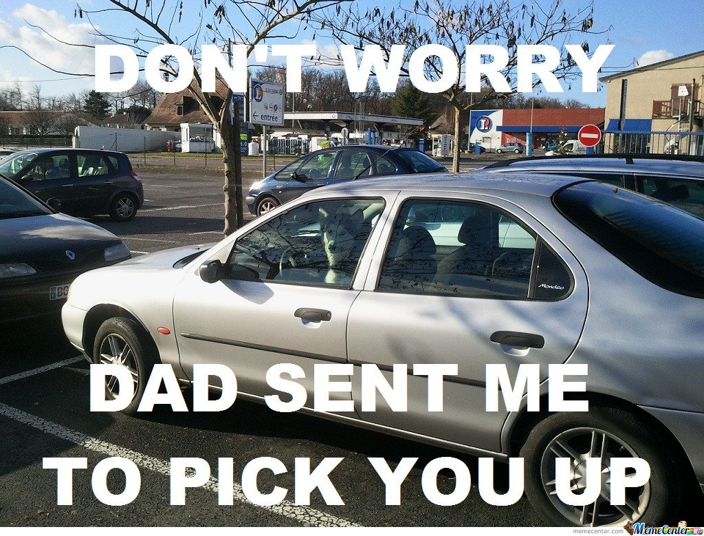 Don't worry , dad sent me to pick you up