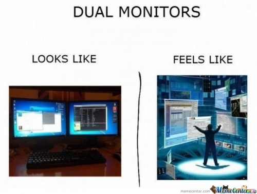 Dual Monitors Look Like
