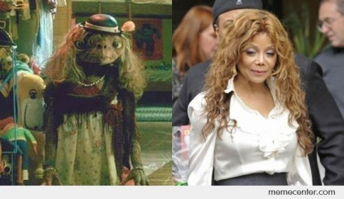 ET and Latoya Jackson Look Alike