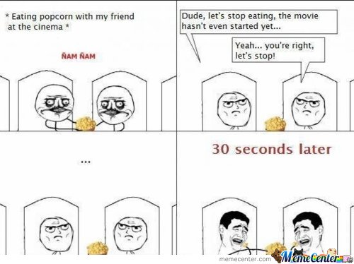 Eating Popcorn at the Cinema