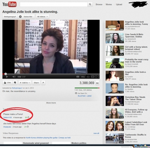 Epic Comment To - Angelina Jolie Look Alike Is Stunning