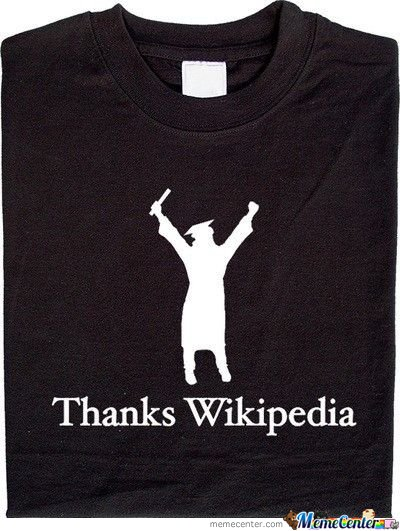 Epic Tshirt : Thanks Wikipedia