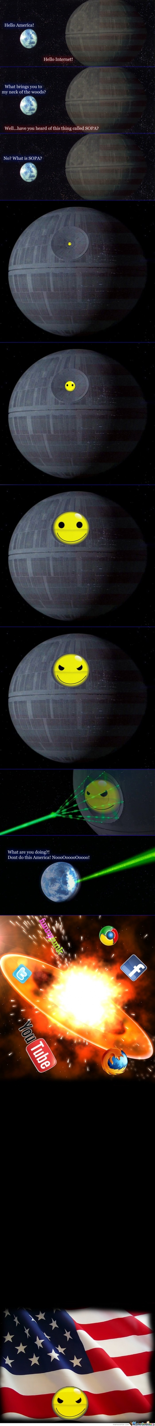 Epic content : SOPA as Death Star