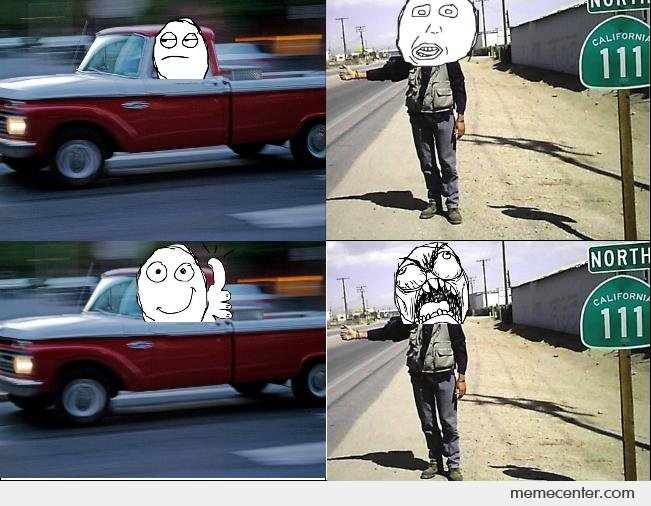 Every time I see a hitchhiker