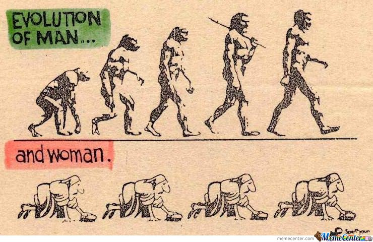Evolution of man...