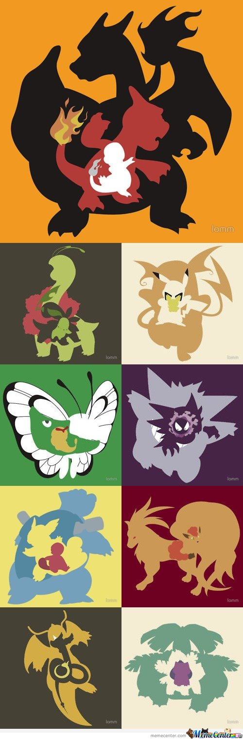 Evolution of most liked pokemons