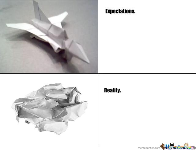 Expectation vs. reality - airplane