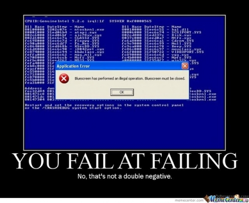 Fail at failing!