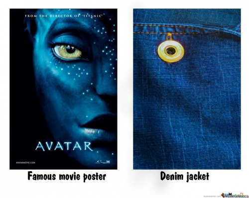 Famous movie poster vs Denim jacket