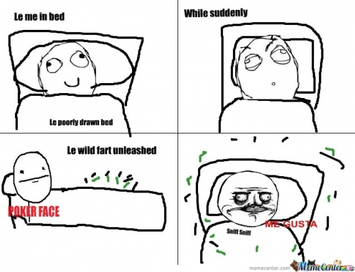 Fart in bed
