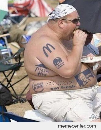 Fast Food Junkie with Tattoos