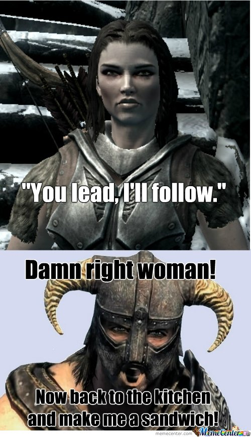 Female companions in Skyrim...