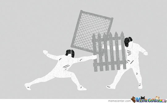 Fencing like a boss