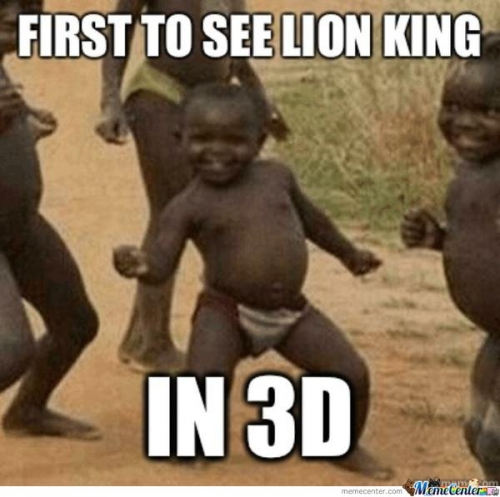 First To See Lion King  In 3d