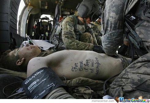 For Those I Love, I Will Sacrifice