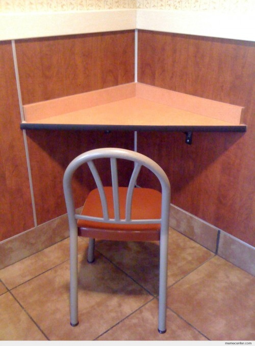 Forever Alone table at Mc Donalds