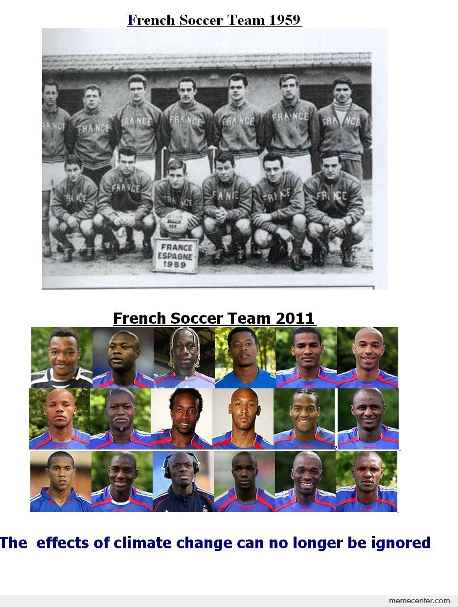 French Soccer Team 1959 And Now