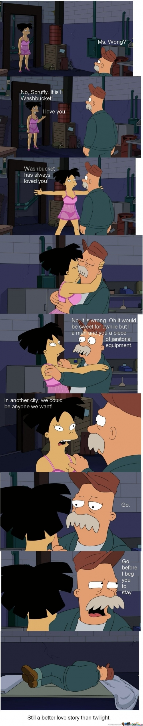 Futurama Love Story.. Still Better Love Story Than Twilight