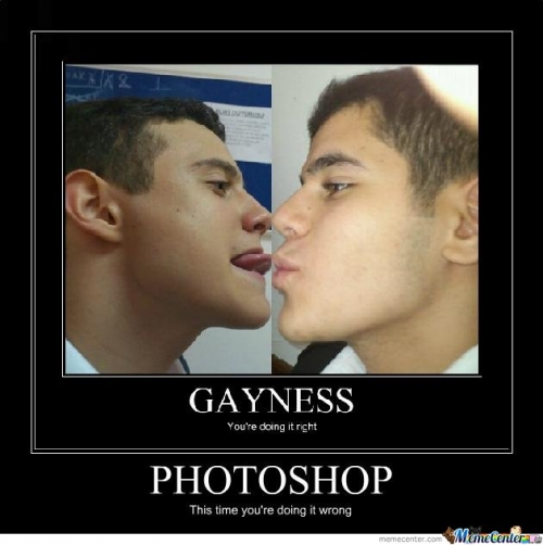 Gayness & Photoshop