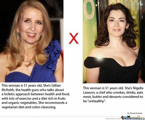 Gillian McKeith vs. Nigella Lawson
