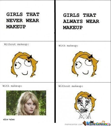 Girls that never wear makeup & girls that always wear makeup