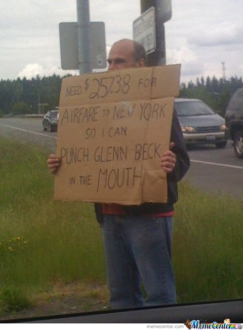 Give him money