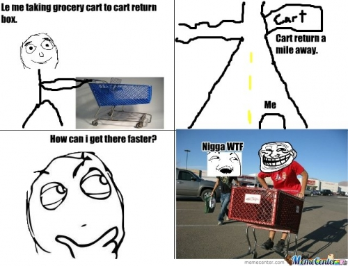 Grocery Cart  Trollin