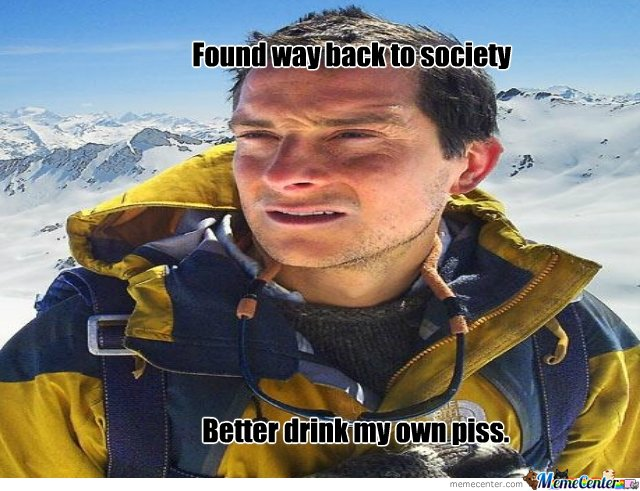 Grylls back to society