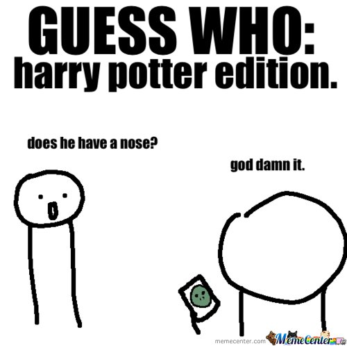 Guess who?: Harry Potter Edition
