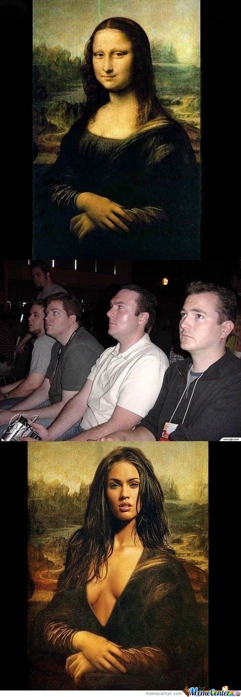 Guy Reactions to Mona Lisa & Megan Fox