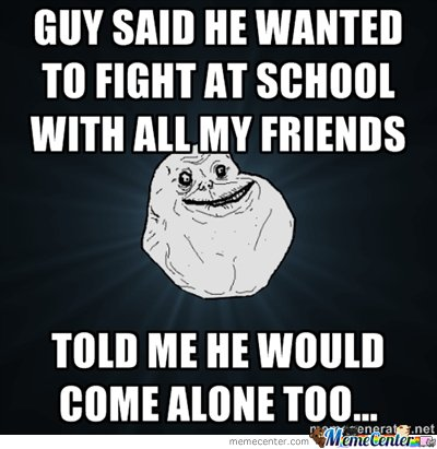 Guy wanted to fight
