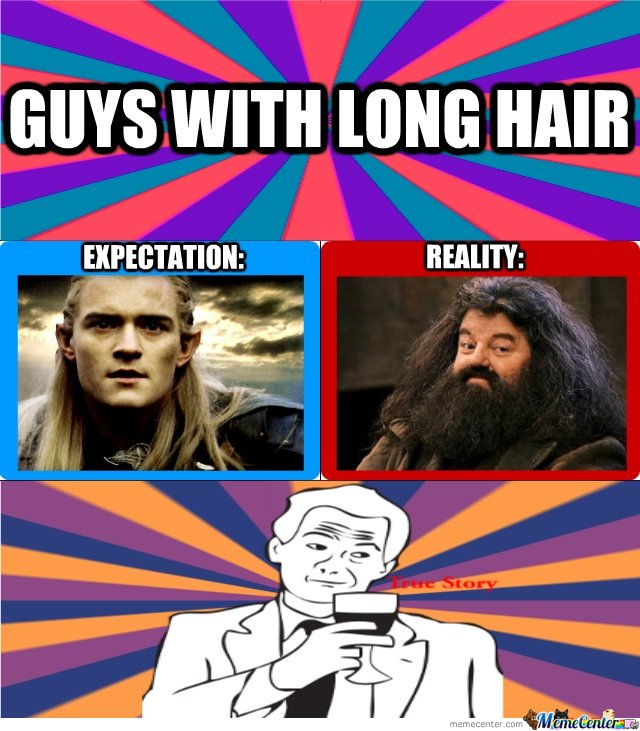 Guys with long hair!
