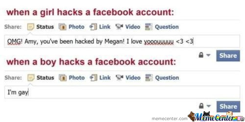Hacking a facebook account