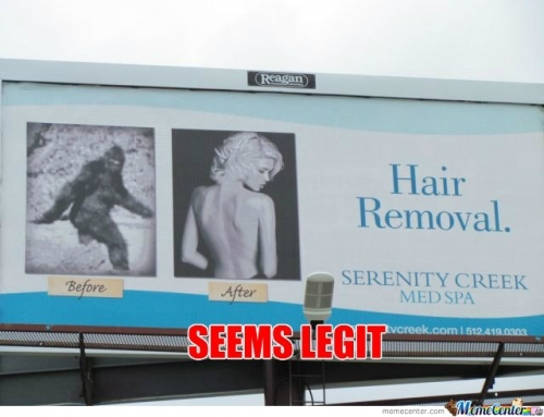Hair Removal Ad Seems Legit
