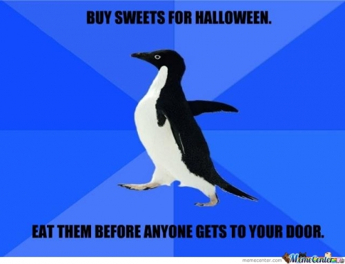 Halloween,socially awkward penguin