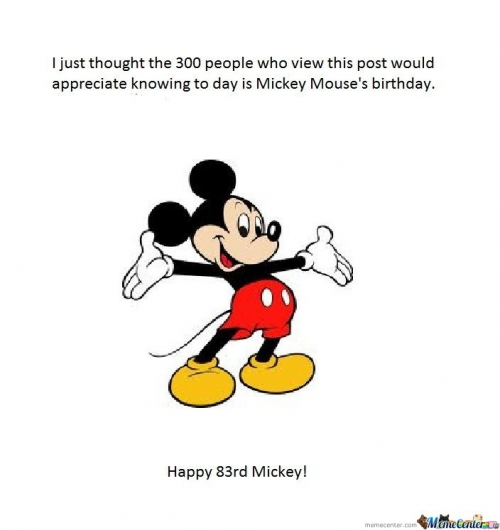 Happy Birthday Mickey