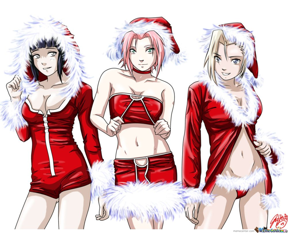Happy christmas naruto fans n memecenter !