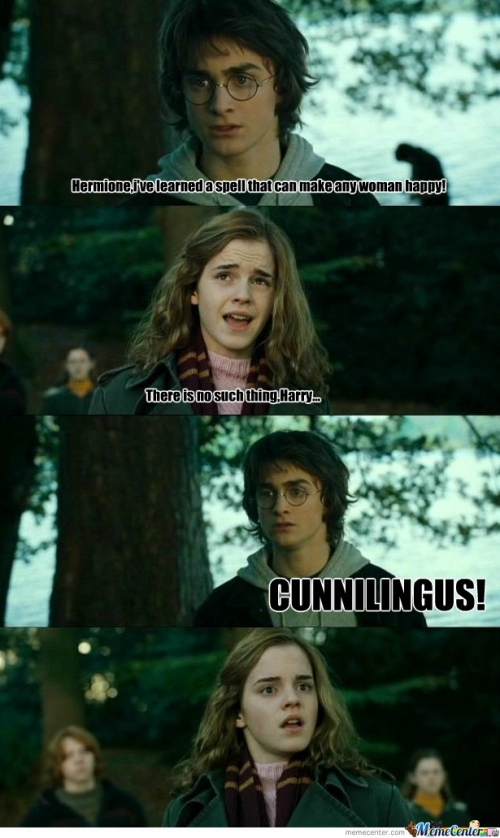 Harry makes Hermione happy