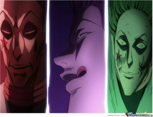 Hisoka, Master of the rape face