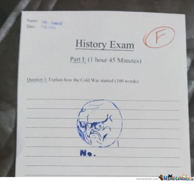 History Exam Win or Fail?