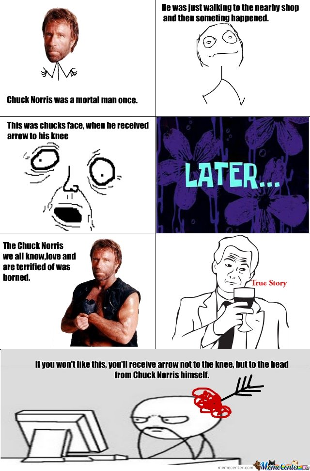 How Chuck Norris got his powers
