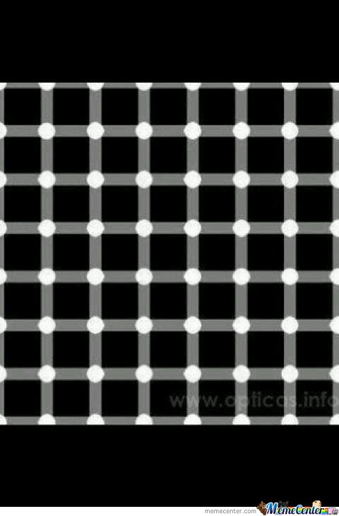 How many black dots you see??