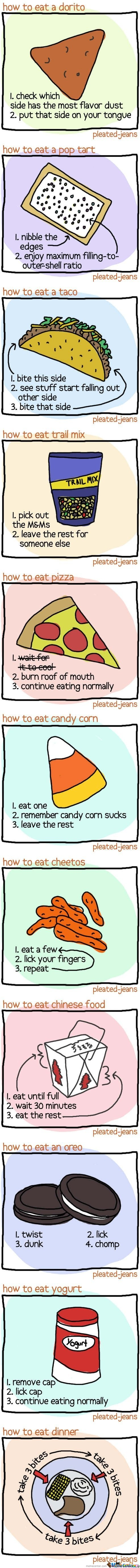 How to eat  Chart
