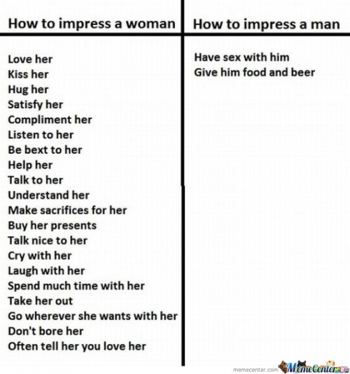 How to impress a man