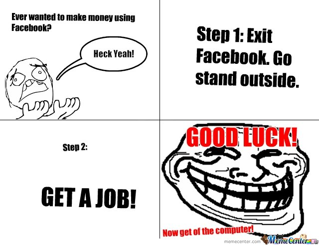 How to make money, using only Facebook