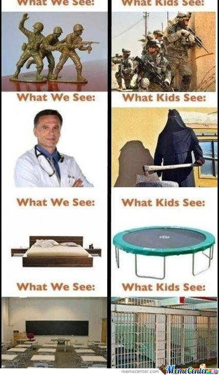 How we see it and how kids see it