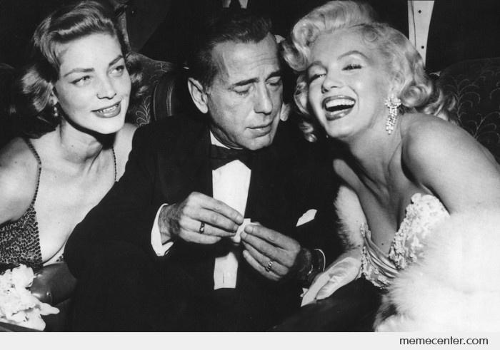 Bogart (OH) United States  city images : Humphrey Bogart and Marilyn Monroe by ben Meme Center