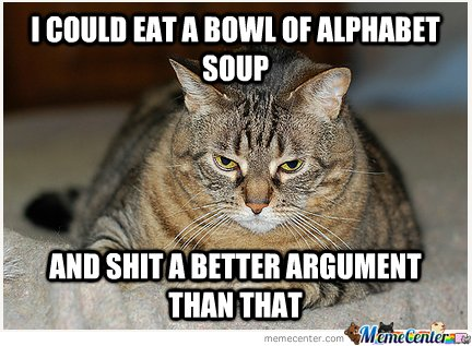 I COULD EAT A BOWL OF ALPHABET SOUP