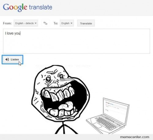 I Love You - Google Translate