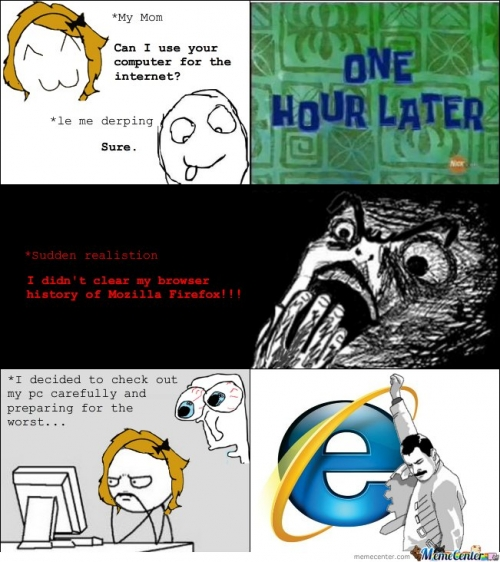 I didn't clear my browser history of Mozilla Firefox